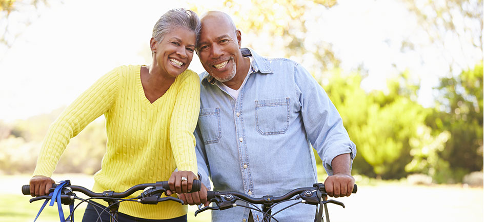 Active older couple with healthy joints
