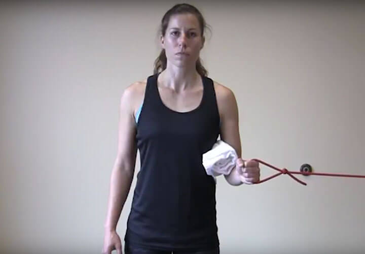 ROTATOR CUFF STRENGTHENING WITH THERABAND HOME EXERCISES