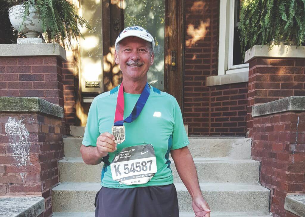 After two total hip replacements, patient completes a marathon